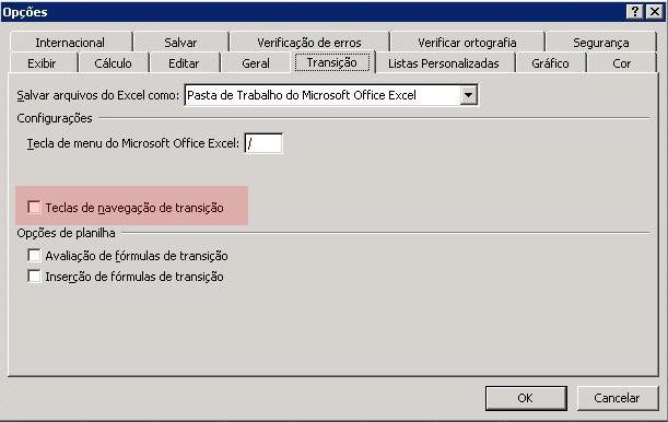 """Excel não funciona Tecla """" Tecla de ENTER e setas, direita, esquerda, para frente e para trás (5/5)"""