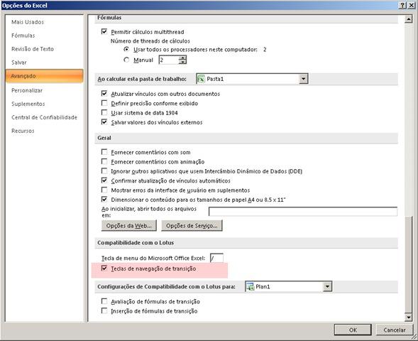 """Excel não funciona Tecla """" Tecla de ENTER e setas, direita, esquerda, para frente e para trás (3/5)"""