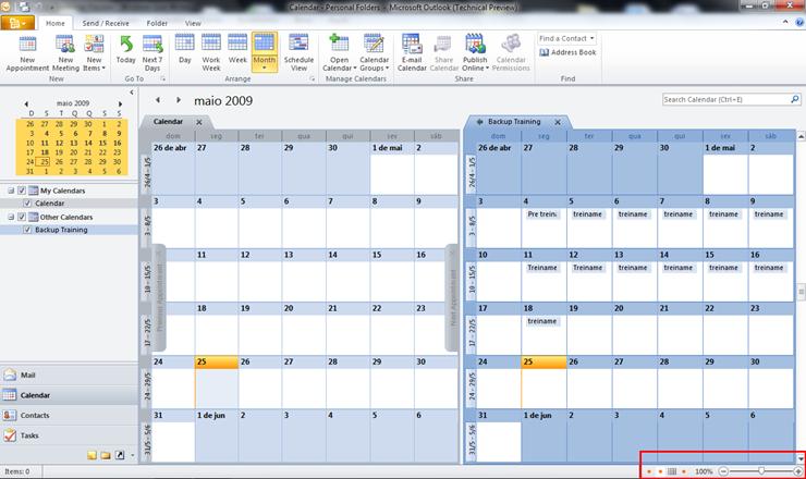 Calendario Outlook.Novo Visual Calendario Microsoft Outlook 2010 Technical