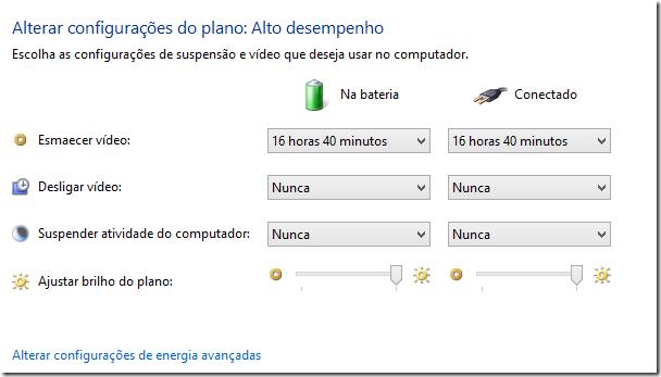 Deixando sempre com brilho intenso Windows 8 | Opções de Brilho (3/6)