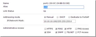 Fortinet criando regras de acessos a site interno (NAT